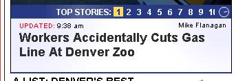 Workers Accidentally Cuts Gas Line At Denver Zoo